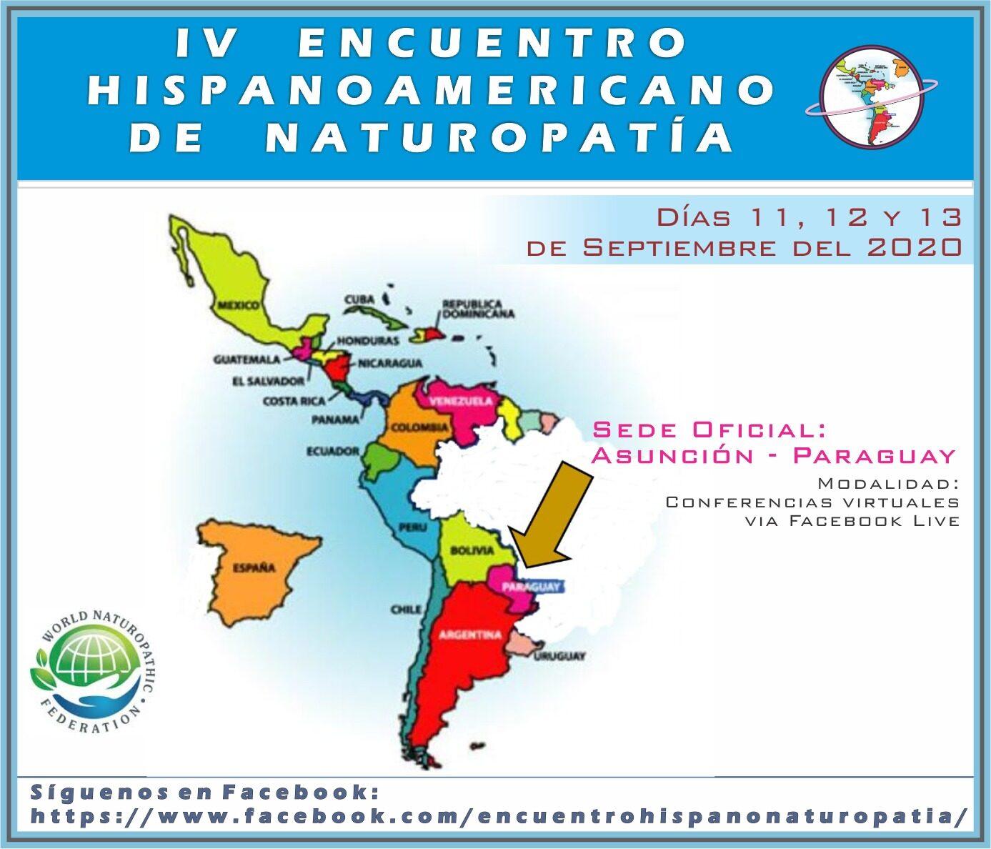 IV ENCUENTRO HISPANOAMERICANO DE NATUROPATÍA